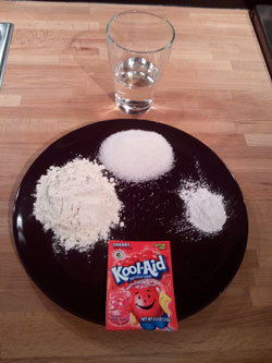 Kool Aid Playdough Recipe Step 1