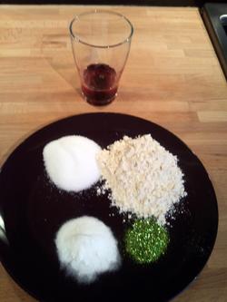 Glittery Playdough Recipe Step 1