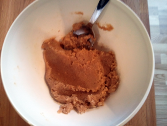 Peanut Butter Playdough Recipe Step 3